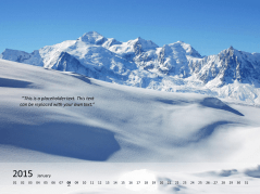 Photo Calendar 2015 _http://www.presentationload.com/photo-calendar-2015.html