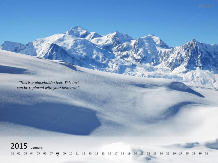 Calendario con fotos 2015 _https://www.presentationload.es/photo-calendar-2015-1-3.html