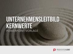 Unternehmensleitbild / Kernwerte _https://www.presentationload.de/unternehmensleitbild-powerpoint-vorlage.html