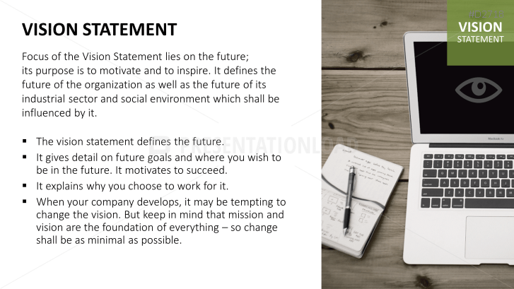 Vision Mission Statements PowerPoint Template – Sample Vision Statement