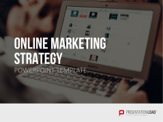 Stratégie de marketing en ligne _https://www.presentationload.fr/online-marketing-strategy-powerpoint-template-fr-1.html