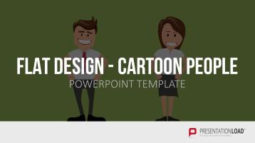 Flat Design - Cartoon People _https://www.presentationload.de/flat-design-cartoon-people-vorlage.html