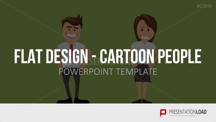 Flat Design - Cartoon People