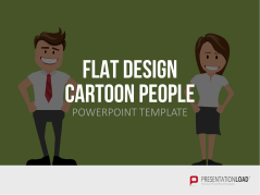 Flat Design - Cartoon People _https://www.presentationload.de/flat-design-cartoon-people-vorlage.html