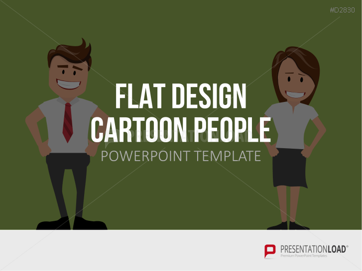 Flat Design - Cartoon People _https://www.presentationload.fr/flat-design-cartoon-people-template-fr.html