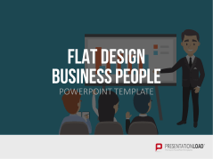 Flat Design – Business People _https://www.presentationload.fr/flat-design-business-people-powerpoint-template-fr.html