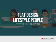 Flat Design – Lifestyle People _https://www.presentationload.fr/flat-design-lifestyle-people-powerpoint-template-fr.html