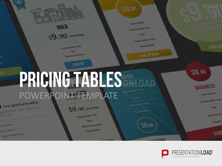 Presentationload Pricing Tables