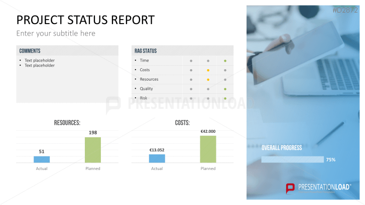 Download The Project Status Report Template For Powerpoint Now