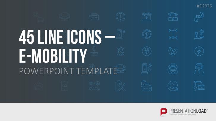E-Mobilität Line Icons