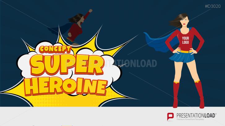 Concepto de superheroína