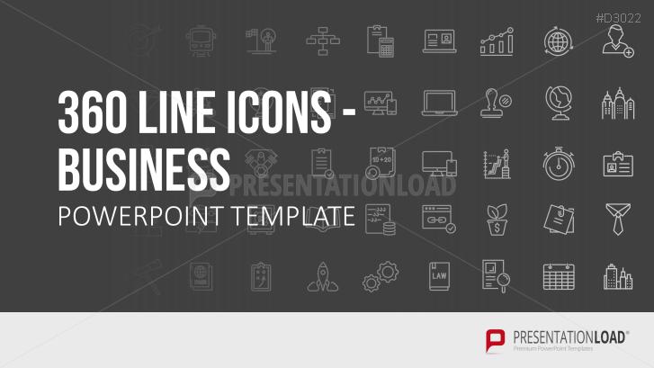 Line Icons - negocios
