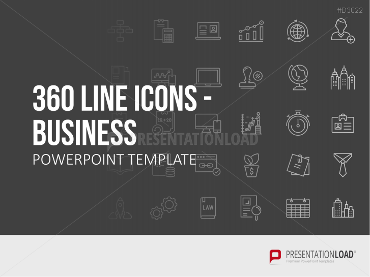 Line Icons - Business _https://www.presentationload.com/line-icons-business-oxid.html