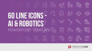 Line Icons Künstliche Intelligenz / Robotik _https://www.presentationload.de/neue-powerpoint-vorlagen/Line-Icons-Kuenstliche-Intelligenz-Robotik.html