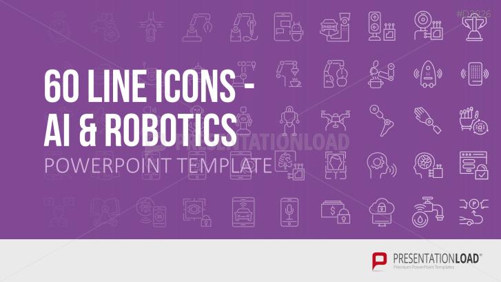 Line Icons Künstliche Intelligenz / Robotik