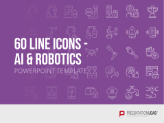 Line Icons Artificial Intelligence / Robotics _https://www.presentationload.com/line-icons-artificial-intelligence-robotics.html