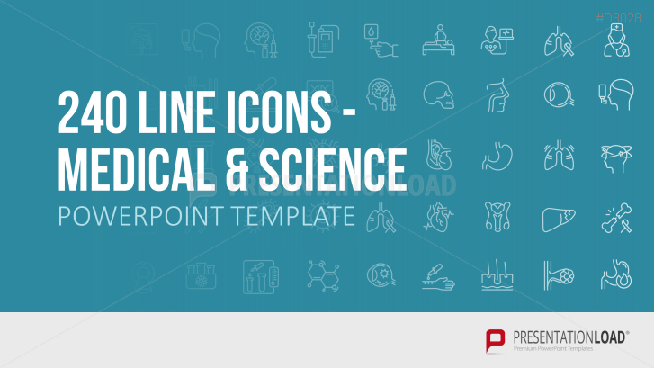 240 Line Icons - Medicine & Science