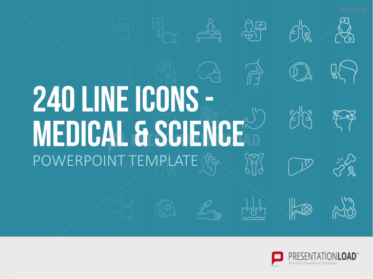 240 Line Icons - Medicine & Science _https://www.presentationload.com/240-line-icons-medicine-science.html