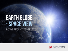 Earth Globe - Vue de l'espace (animation) _https://www.presentationload.fr/earth-globe-space-view-oxid-1.html
