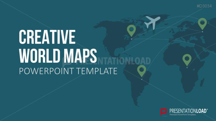 Kreative Design-Weltkarten