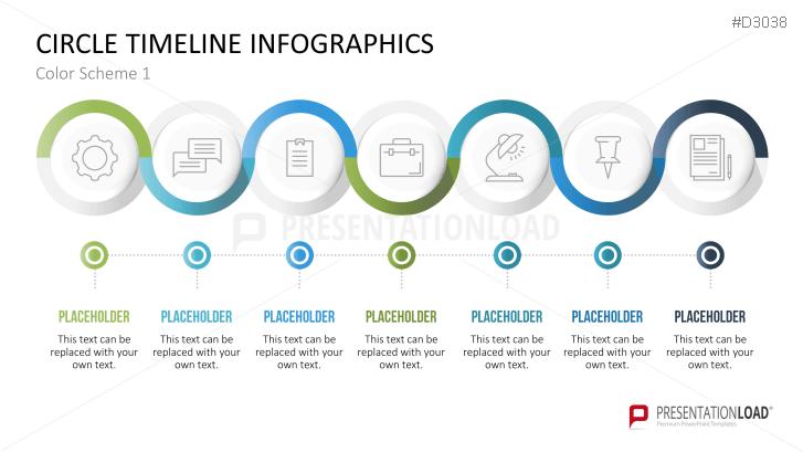 Infografik - Zeitstrahl (Kreise)