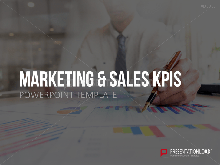 KPIs – Marketing et vente _https://www.presentationload.fr/kpis-marketing-et-ventes-powerpoint-modele.html