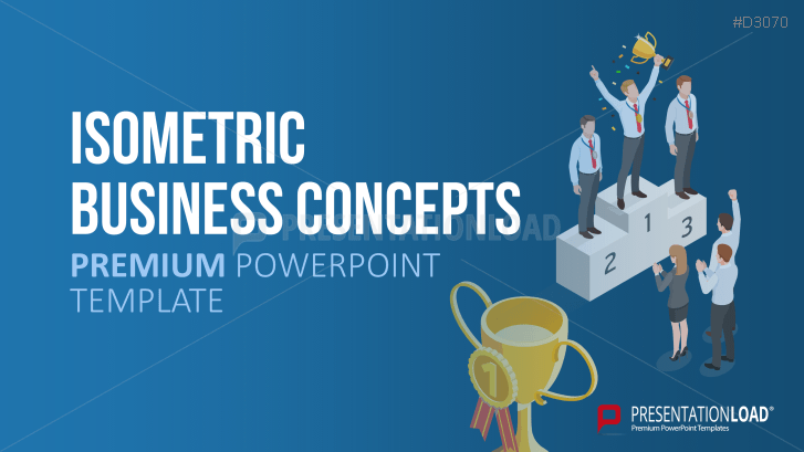 Isometrische Business-Grafiken
