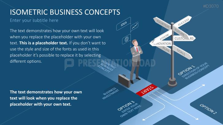 Business Konzept Isometrische PowerPoint-Vorlage