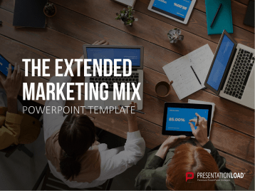 Le mix marketing étendu _https://www.presentationload.fr/le-mix-marketing-powerpoint-modele.html