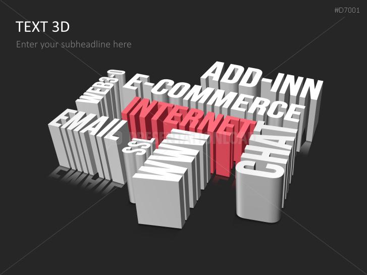 Text 3D _https://www.presentationload.com/3d-text.html