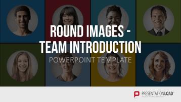 Runde Bilder - Team Vorstellung _https://www.presentationload.de/runde-bilder-team.html