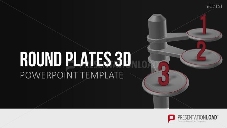 3D Round Plates