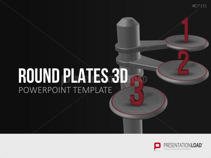 3D Round Plates _https://www.presentationload.com/3d-round-plates.html