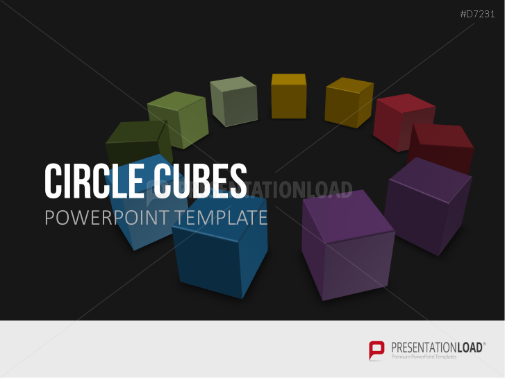 Cubos en círculo _https://www.presentationload.es/circle-cubes.html