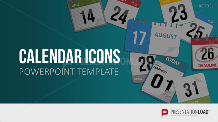 PowerPoint Kalender Icons