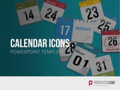 PowerPoint- Iconos con calendario _https://www.presentationload.es/powerpoint-calendar-icons.html