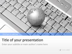 Clavier avec globe terrestre _https://www.presentationload.fr/keyboard-globe-1-1.html