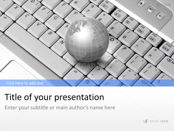 Tastatur mit Weltkugel _https://www.presentationload.de/tastatur-weltkugel.html