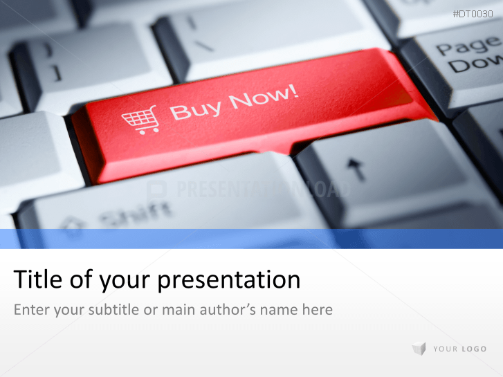 3D Button - Shopping _https://www.presentationload.com/3d-button-shopping.html