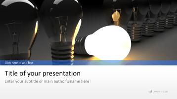 Glühbirnen - Idee _https://www.presentationload.de/gluehbirnen-idee.html