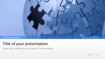 Globo en rompecabezas _https://www.presentationload.es/puzzle-globe-1-4.html
