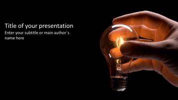 Hand mit Glühbirne _https://www.presentationload.de/hand-gluehbirne.html