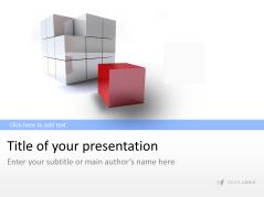 Cubo tridimensional 2 _https://www.presentationload.es/3d-cube-2-1.html