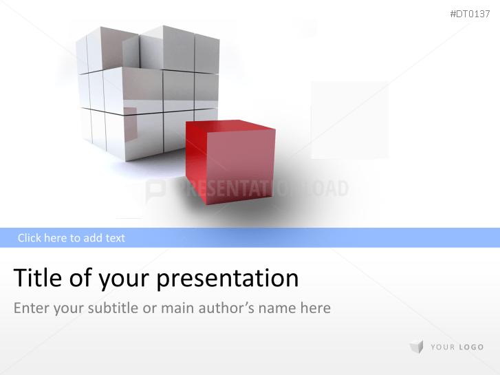 3D Cube 2 _http://www.presentationload.de/wuerfel-3d-2.html