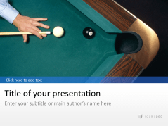 Billard - Pool _https://www.presentationload.com/billard-pool.html
