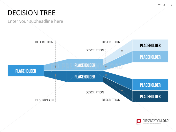 presentationload | university powerpoint template decision tree, Powerpoint templates