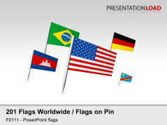 World Flags - on Pin _https://www.presentationload.com/flag-world-pins.html