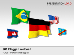 Welt-Set - Flaggen 3D _https://www.presentationload.de/flaggen-welt-set-3d.html