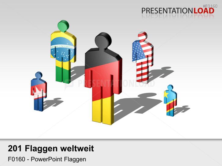 Welt-Set - Männchen _https://www.presentationload.de/flaggen-welt-set-maennchen.html