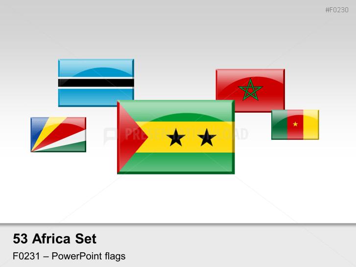 Afrique - Drapeaux des pays avec effet miroir